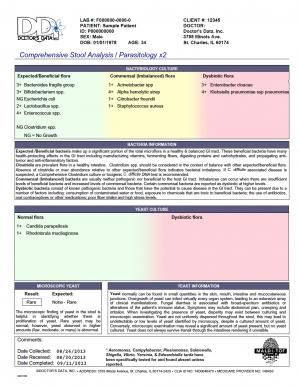 comprehensive stool analysis example